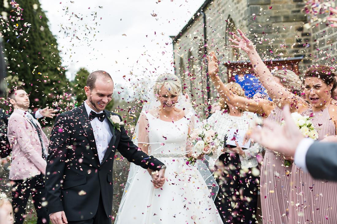 Pannal Church wedding harrogate wedding photographer Amanda Manby